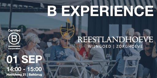 B Experience bij De Reestlandhoeve