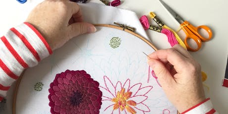 Embroidery Hoop Workshop with Creative Couple Davinder and Caroline Madaher tickets