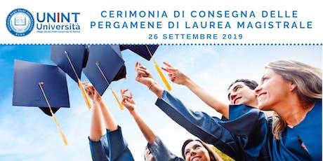 Cerimonia di consegna delle pergamene di laurea magistrale tickets
