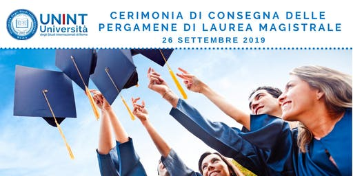 Cerimonia di consegna delle pergamene di laurea magistrale