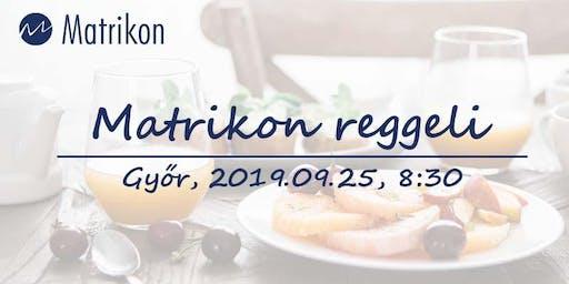 Matrikon reggeli 2019.10.02