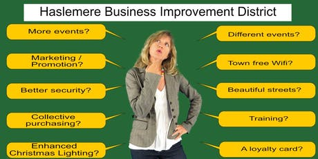 Haslemere Business Improvement District planning tickets