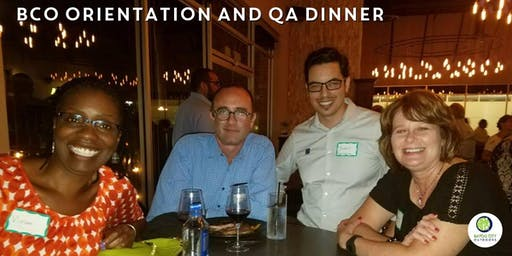 BCO Orientation & QA Dinner