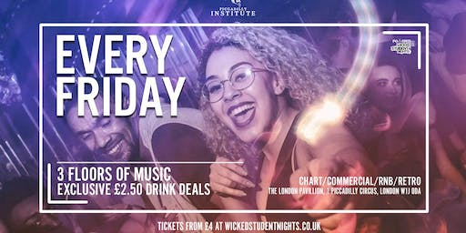 Fridays at Piccadilly Institute // £2.50 Drinks