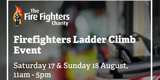 Fire Fighters Ladder Climb Event