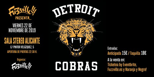 Fuzzville!!! presenta: THE DETROIT COBRAS en Alicante