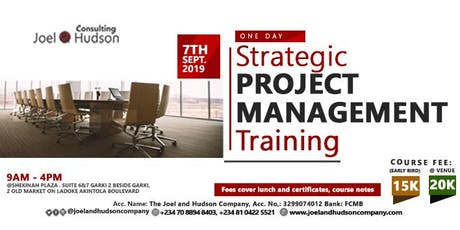 Strategic Project Management Training tickets