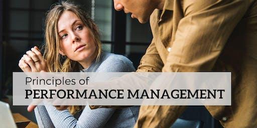 Principles of Performance Management