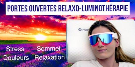 Portes ouvertes Relaxo-luminothérapie billets