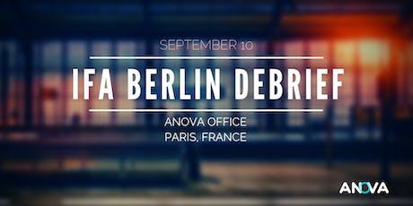 IFA Berlin 2019 - Le debrief billets