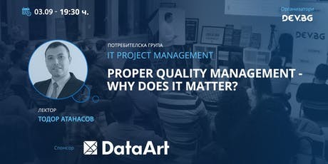 Proper Quality Management - why does it matter? tickets