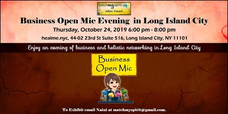 Business Open Mic Evening in Long Island City tickets