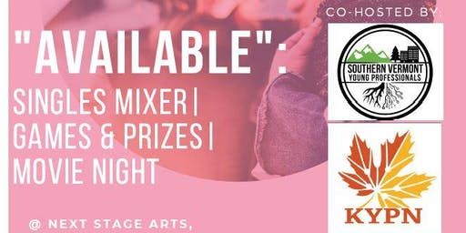AVAILABLE: Singles Mixer | Games & Prizes | Movie Night