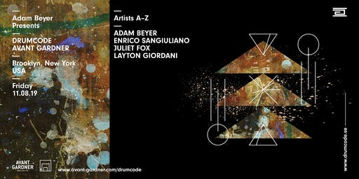 Adam Beyer Presents Drumcode: New York at Avant Gardner