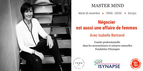 Master Mind - Négocier est aussi une affaire de femmes, Isabelle Bertrand - BW billets