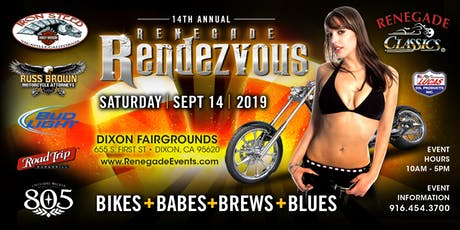 14th Annual Renegade Rendezvous Bike + Babes + Blues + Brews tickets