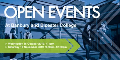 Banbury and Bicester College autumn Open Events