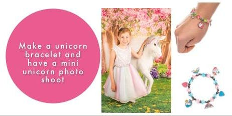Make a unicorn charm bracelet and have a mini unicorn photo shoot