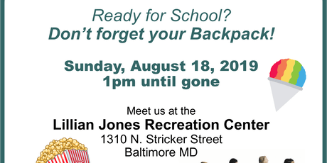 FREE BACKPACK GIVEAWAY IN SANDTOWN, WEST BALTIMORE tickets