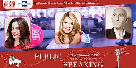 Public Speaking - Challenge Network & RDS tickets