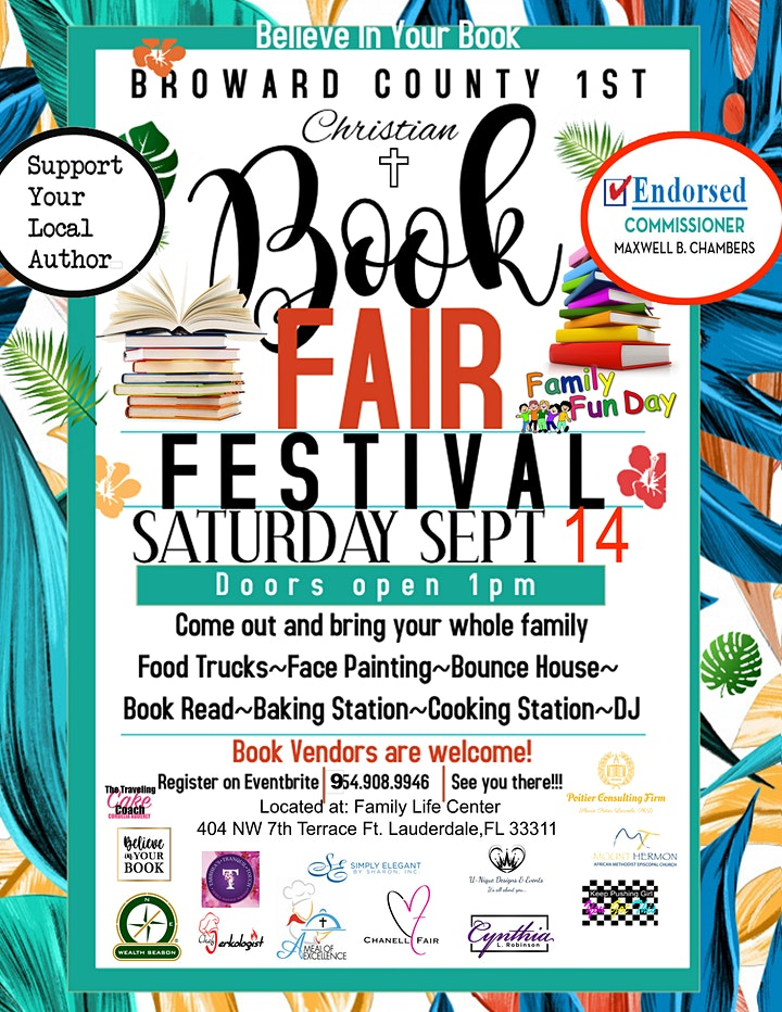 Believe In Your Book, Broward County 1st Christian Book Fair & Festival image