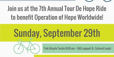 7th Annual Tour de Hope Road Bike Ride