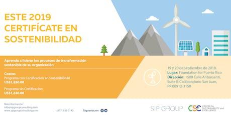 Programa de Certificación Internacional en Sostenibilidad /CSR Practitioner tickets
