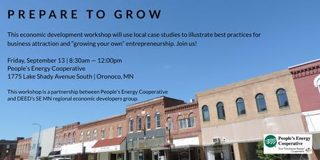 Prepare to  Grow - Economic  Development Workshop tickets