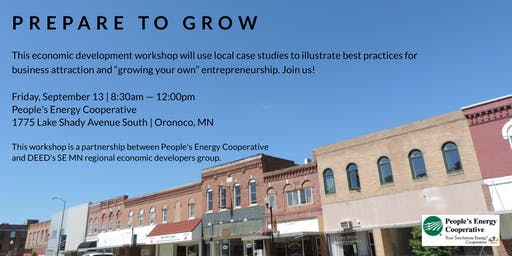 Prepare to  Grow - Economic  Development Workshop