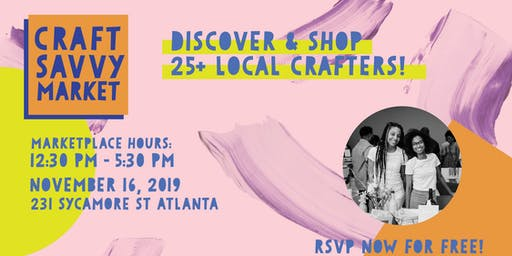 Craft Savvy Market Fall 2019
