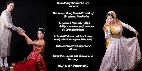 The Kathak Rang Manch Pravesh of Shreetama Mukherjee tickets