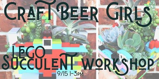 LEGO Succulent Workshop for Craft Beer Girls!