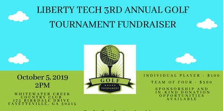 Liberty Tech Charter School 3rd Annual Golf Fundraiser tickets
