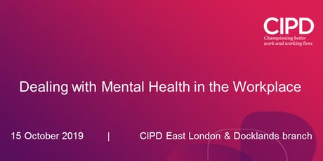 Dealing with Mental Health in the Workplace tickets