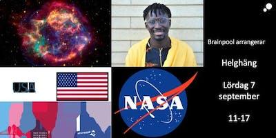 Helghäng: Tema rymd. Studier USA. Musik, positivt kaos och livet. Matematik. Bokklubb m.m