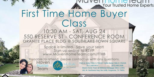 First Time Home Buyer Clas