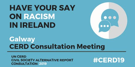 CERD Civil Society Consultation Meeting: GALWAY tickets
