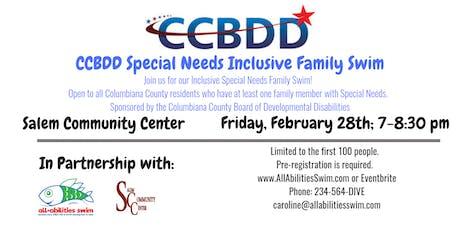 CCBDD February Family Swim tickets