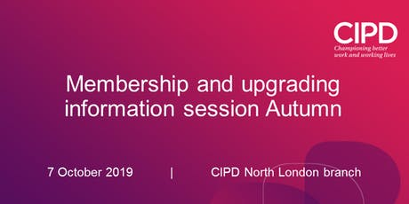 Membership and upgrading information session Autumn tickets
