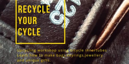 Recycle your cycle! Make your own unisex wrist cuff / bracelet / necklace