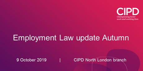 Employment Law update Autumn tickets