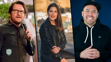 "Adam Burke (NPR's ""Wait, Wait, Don't Tell Me""), Kara Coraci & Aaron Putnam"