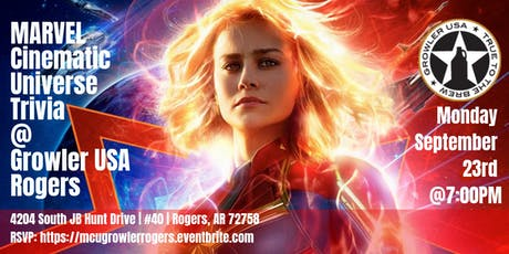 Marvel Cinematic Universe Trivia at Growler USA Rogers tickets
