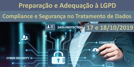 Preparação e Adequação à LGPD - Compliance e Segurança no Tratamento de Dados tickets