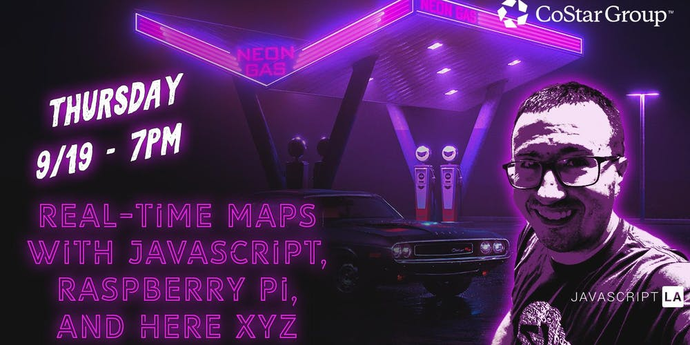 OC: Real-Time Maps with JavaScript, Raspberry Pi, and HERE XYZ w/Nic