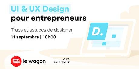 Les ateliers du Wagon - UI & UX Design pour entrepreneurs tickets
