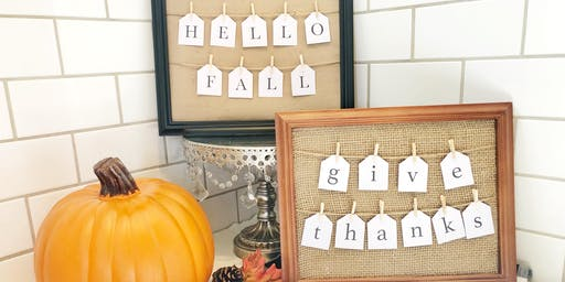 Wines & Signs: Fall Farmhouse Sign - A DIY Event