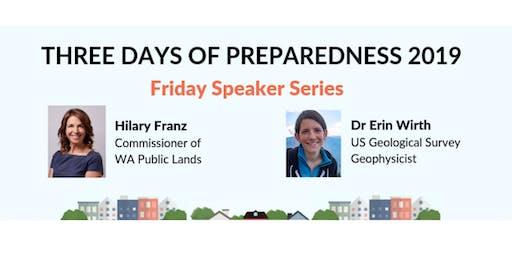Three Days of Preparedness Speaker Series