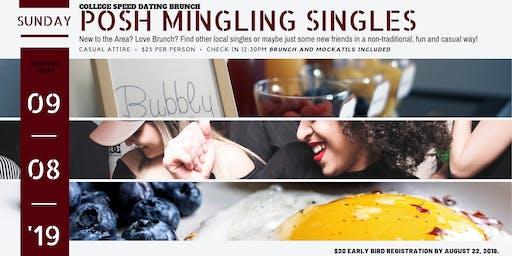 Posh Mingling Singles: College Speed Dating Brunch