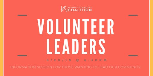 Information Session - Call for Volunteer Leaders